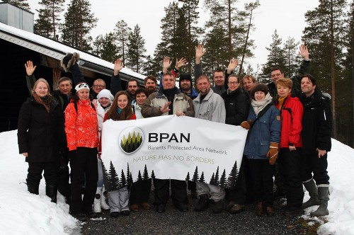 Press tour group in Paanajarvi NP (Photo: Dmitry Deshevykh)