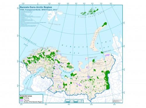 Сеть охраняемых территорий в Баренц-регионе