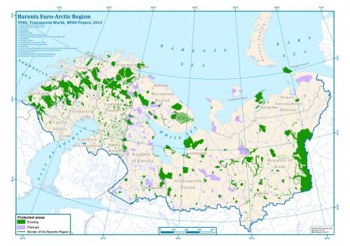 Район исследований по проекту BPAN и имеющиеся здесь охраняемые территории