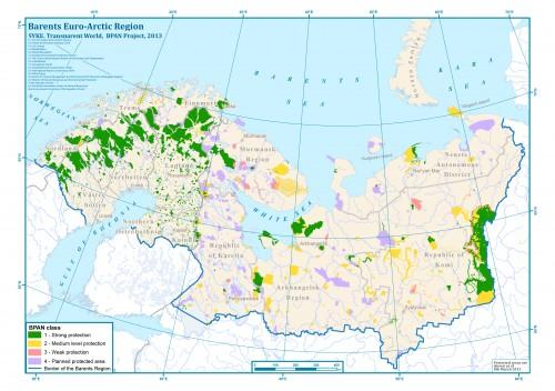 Особо охраняемые природные территории классифицируются в зависимости от строгости режима  охраны (3 + 1)