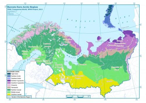 Биоклиматические зоны в Баренц-регионе